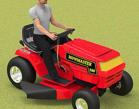 3D Ride On Mower Poser Vue