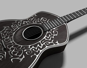 3D model musical Custom 6-string Guitar