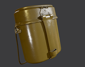 3D model Army mess kit USSR