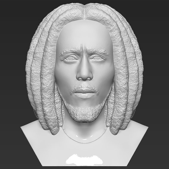 Bob Marley bust for 3D printing