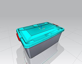 Plastic 40lt storage container 3D printable model