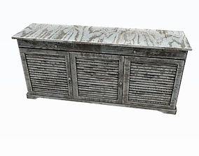 Old greycabinet grey 3D model