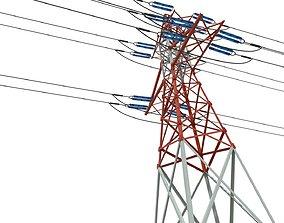 transmission tower 3D asset