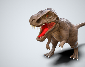 3D model animated game-ready Tyrannosaurus Rex