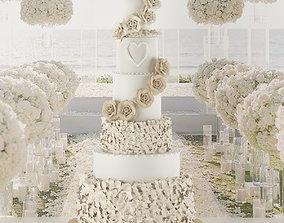 Wedding Cake 3D heart