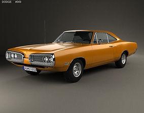 3D Dodge Coronet hardtop coupe 1970