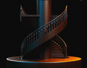 rail 3D model Stairs
