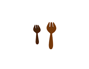 3D model rigged Wooden fork
