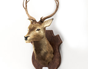 Deer head 3d model low-poly