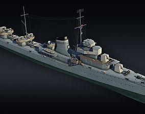 Destroyer project 7 Gremyashiy 3D