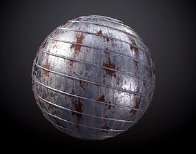 3D Rusty Metal Pipe Seamless PBR Texture