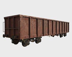 Railcar Open Top 3D asset