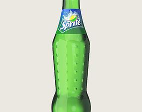 Sprite Drink Glass Bottle 3D asset