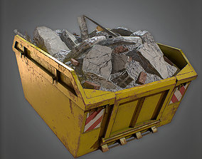 realtime Dumpster - CNST - PBR Game Ready 3D model