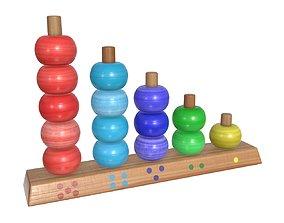 Scores wooden toy 3D