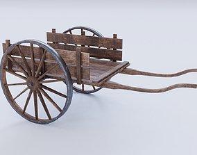 3D asset Dirty farm cart PBR