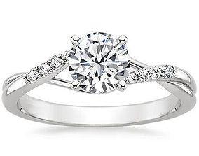 Beautiful female ring 106 3D printable model