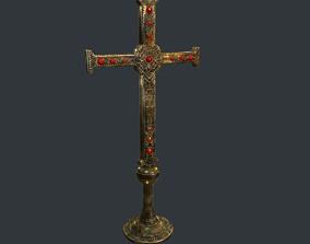 3D asset Antique Cross