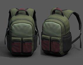 Backpack Camping Generic human bag baggage 3D model