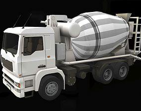 3D asset VR / AR ready Concrete mixer