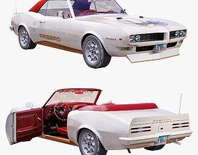 3D model Pontiac firebird 1968 convertible custom
