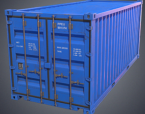 Container 3D asset game-ready