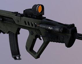 3D model Bullpup Assault Rifle IMI Tar-21 Israeli PDW 2