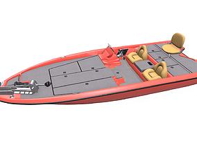 Bass Fishing Boat PBR 3D model