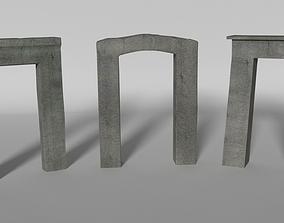 3D model Ancient Gates Set