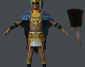Ancient Warrior 3D asset animated