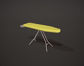Plain Yellow Ironing Board 3D asset