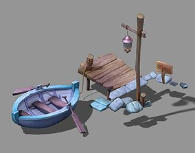 Game Wood - Boat 03 3D model
