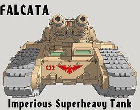 6mm and 8mm Falcata Superheavy 3D print model