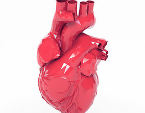 Low Poly Heart 3D asset