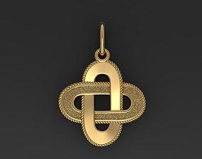 Solomon knot necklace 3D print model