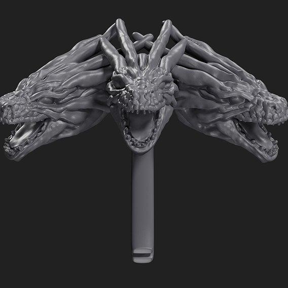 Daenerys Targaryen Brooch 3D print model