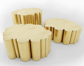 table 3D Cloud Tables in Brass by Kam Tin