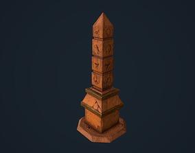 3D asset Obelisk 4