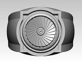 3D print model Turbine men ring Pilot Motor Engine