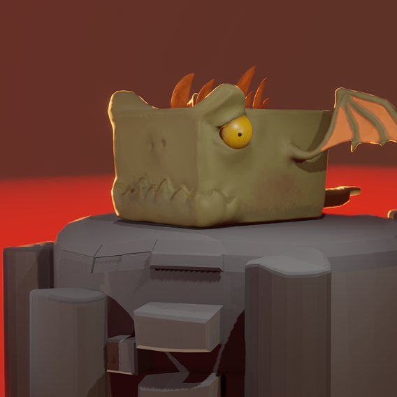Stylized Cube Dragon
