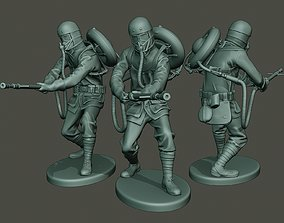 3D print model German soldier ww1 action G5