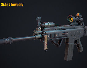 Scar L 3D asset game-ready