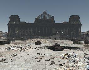 3D Reichstag Berlin 1945