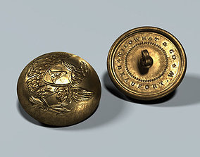 Civil War - Union Artillery Button V01 3D