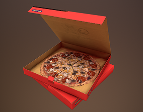 pizza in box 3D asset
