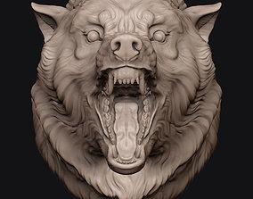 3D print model Wolf Head art