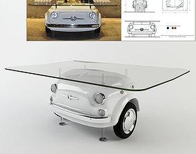 fiat500 picnic table 3D model