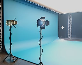 professional studio and light setup scene 3D