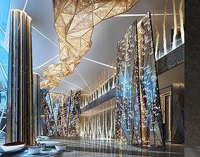 3D Hotel lobby wineshop