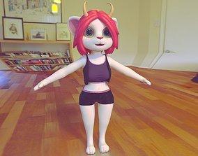 Cat Myra 3D model animated